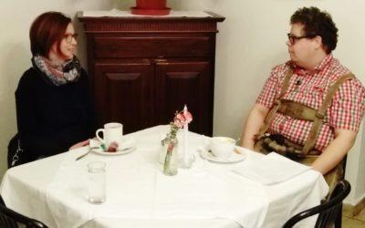Kaffeehaus-Gespräch Dr. Christina Haidinger und Fabian Parthl