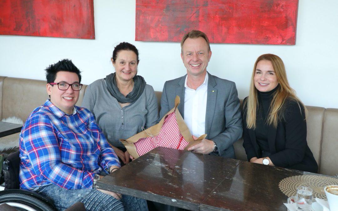 Kaffeehaus-Gespräch Mario Abl und Nicole Braunstein
