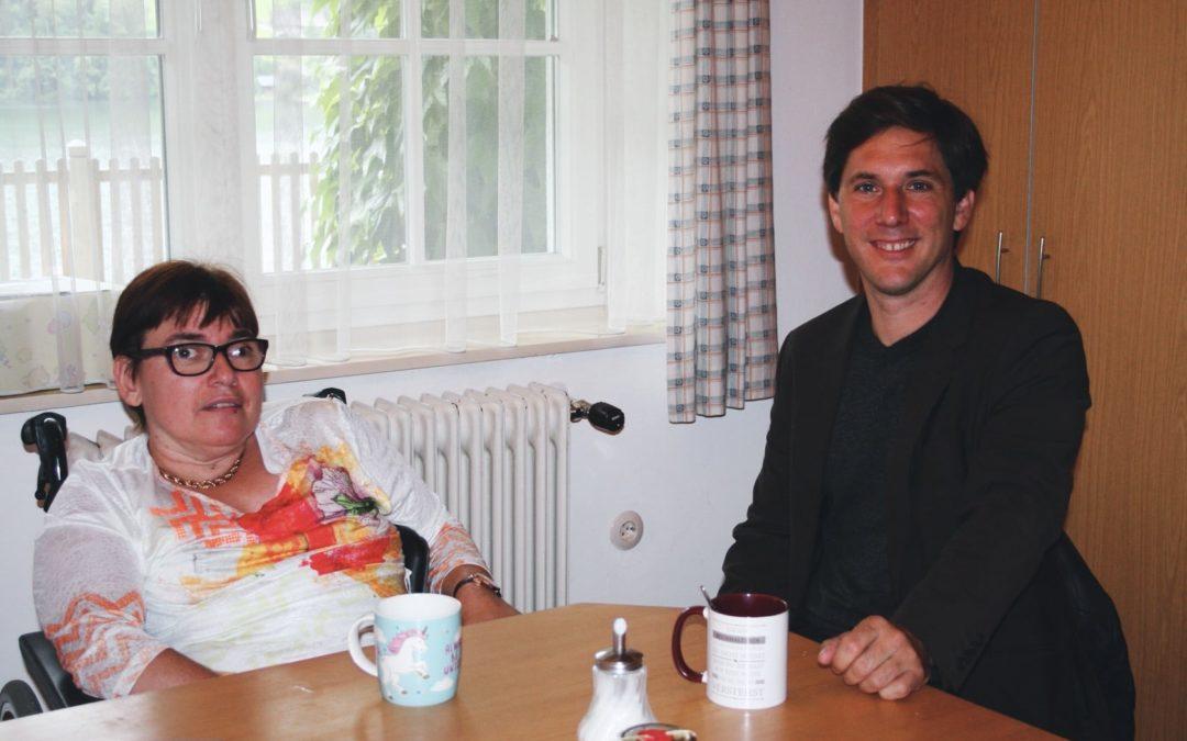 Kaffeehaus-Gespräch Hanna Kamrat und Franz Steinegger