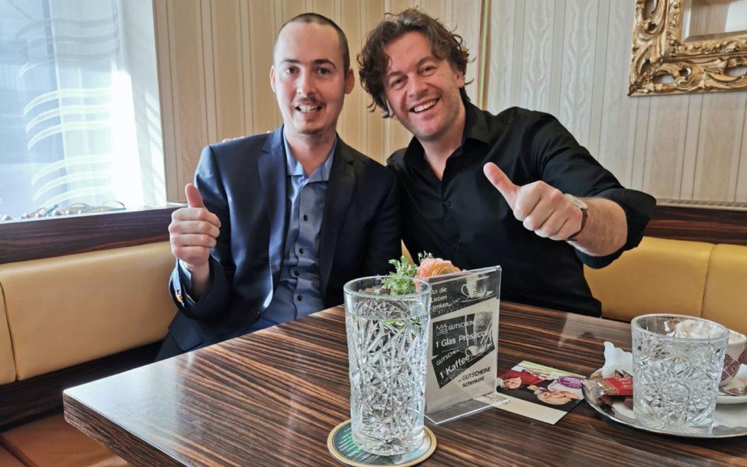 Kaffeehaus-Gespräch Uwe Schmidt und Martin Pichler