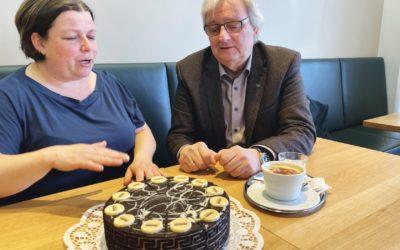 Kaffeehaus-Gespräch Willi Haider und Cornelia Eggenreich